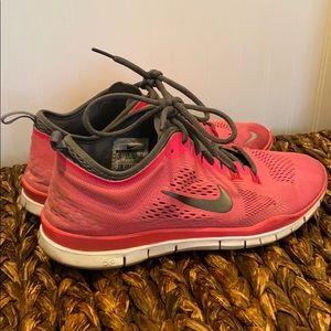 Pink Nike Free Sneakers